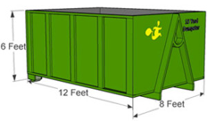 homeowner 15 Yard Dumpster rental